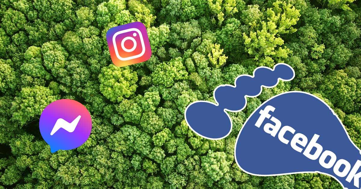 Facebook Európai Unio ökológiai lábnyom