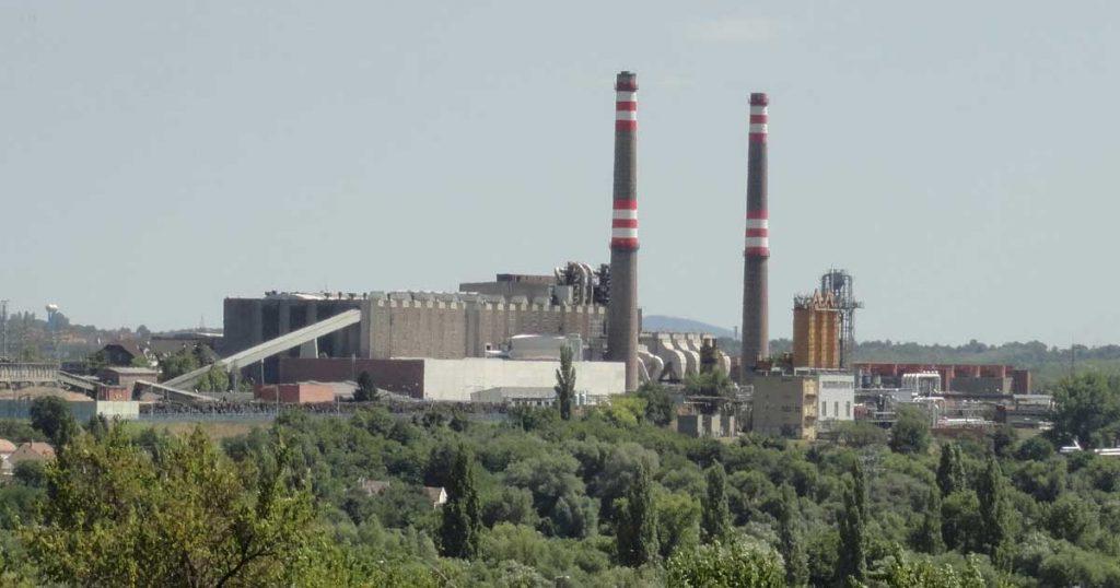 Pécsi Hőerőmű épületkomplexuma.